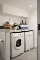 Making a simple laundry room update to maximize its function and look together with cheap accessories and simple layout designs Image 27