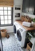 Making a simple laundry room update to maximize its function and look together with cheap accessories and simple layout designs Image 31