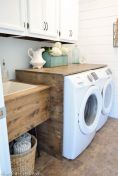 Making a simple laundry room update to maximize its function and look together with cheap accessories and simple layout designs Image 6