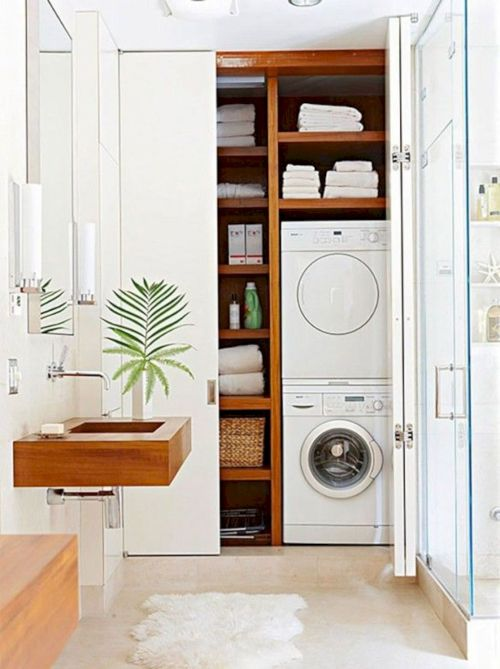 Making a simple laundry room update to maximize its function and look together with cheap accessories and simple layout designs Image 7