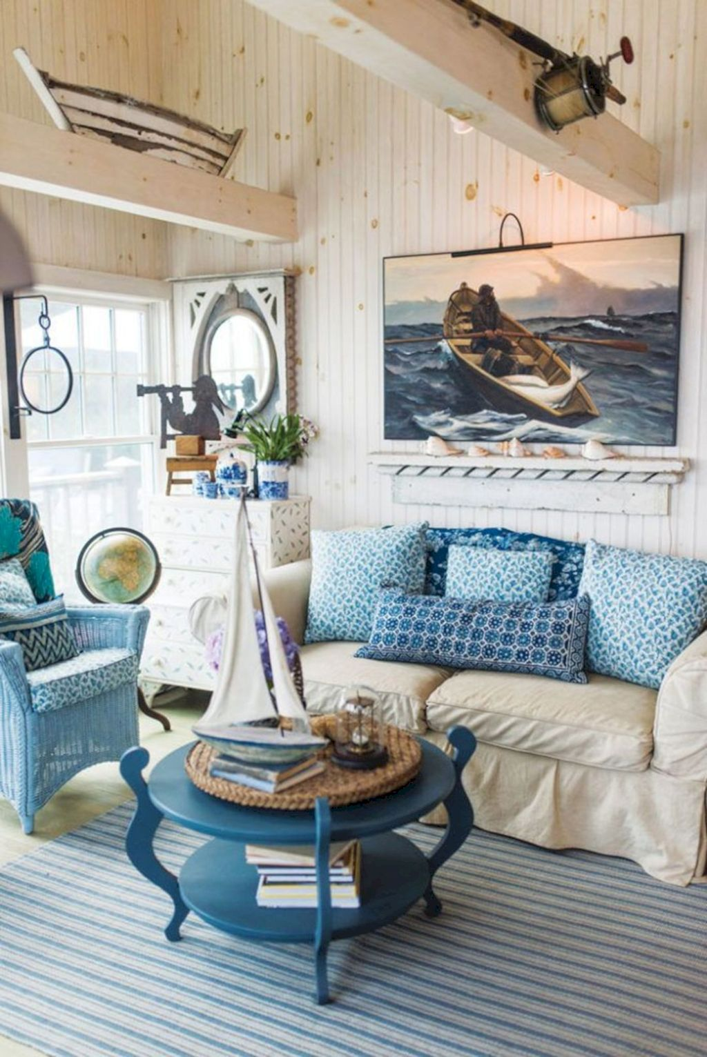 Minimalist living room update inspired by cottage living area showing a natural characteristic of beach style home Image 45