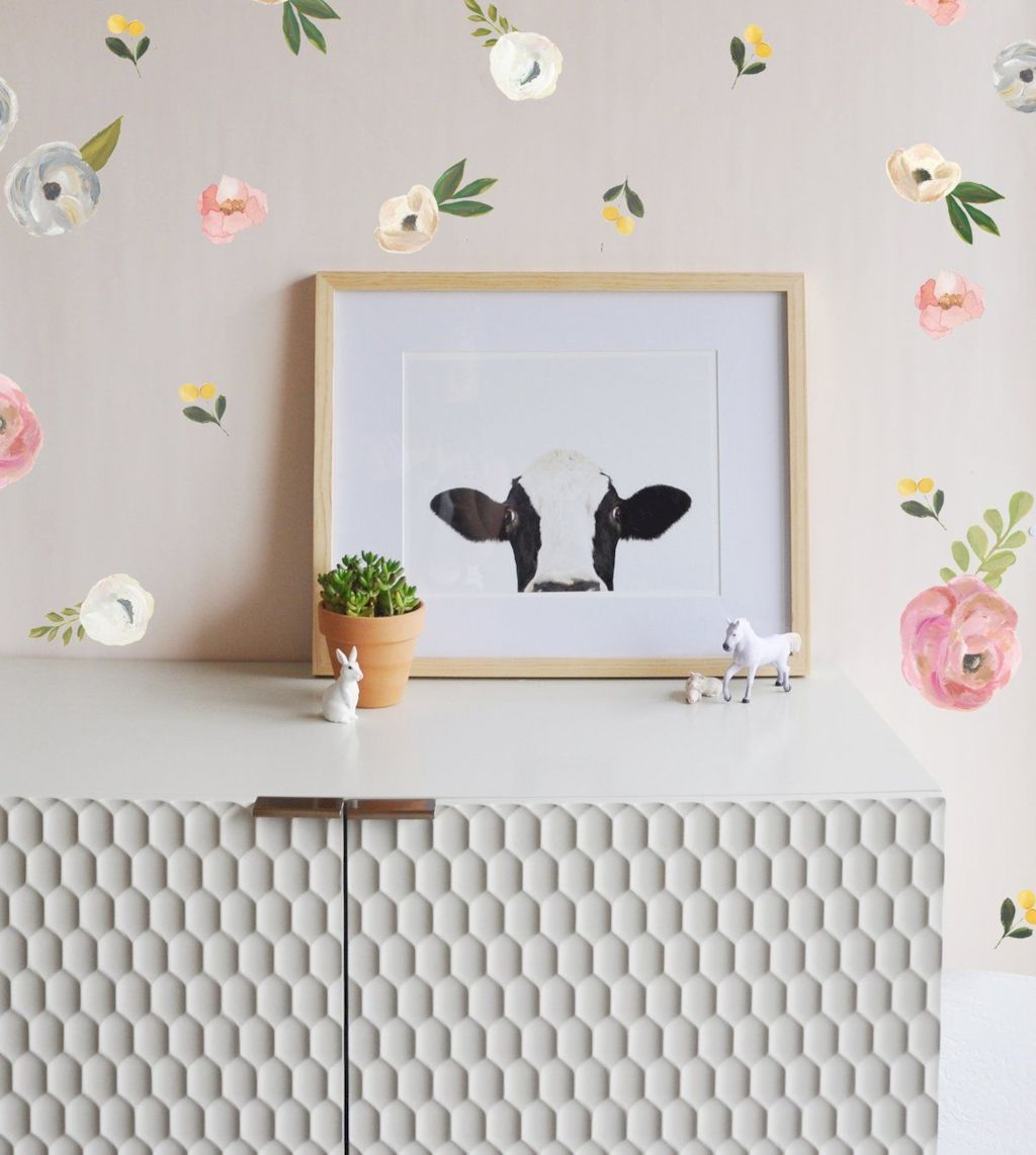 Refreshing sticker art wall decal giving floral accessories refreshing kids and nursery rooms wall design ideas Image 23