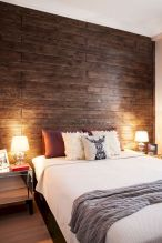 Smart interior upgrade showing wood pallets wall accent that looks amazing in a modern home which includes traditional and rustic element mixing Image 41