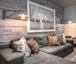 Smart interior upgrade showing wood pallets wall accent that looks amazing in a modern home which includes traditional and rustic element mixing Image 46