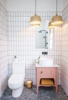 Terrazzo tiles used in bathroom renovation showing classical comeback that bring an artistic retro statement in your home Image 30