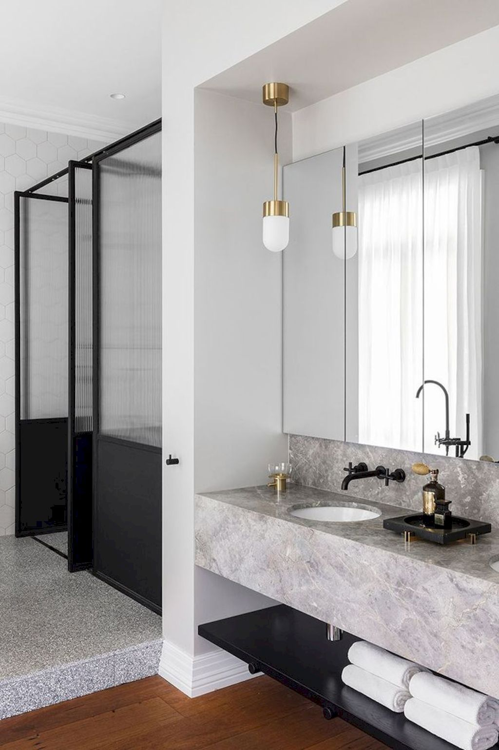 Terrazzo tiles used in bathroom renovation showing classical comeback that bring an artistic retro statement in your home Image 33