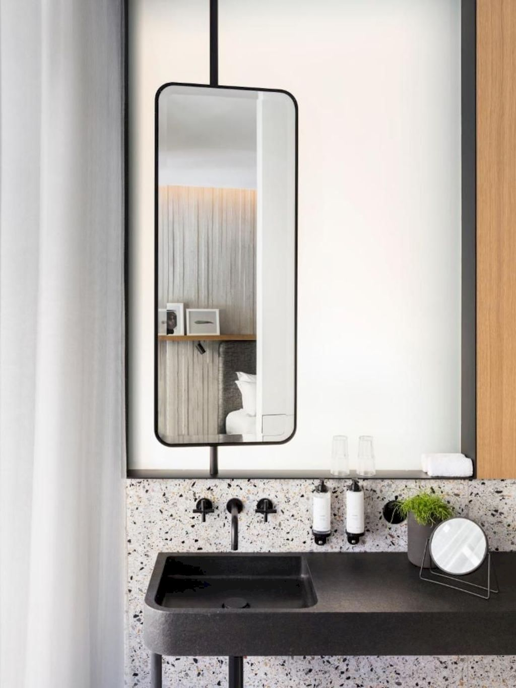 Terrazzo tiles used in bathroom renovation showing classical comeback that bring an artistic retro statement in your home Image 37