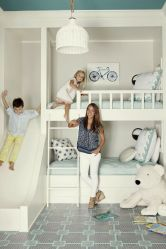 Warm and lovely kids bedroom decoration using a soft color combination showing a neutral scheme that looks beautiful and adorable Image 19