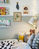Warm and lovely kids bedroom decoration using a soft color combination showing a neutral scheme that looks beautiful and adorable Image 22