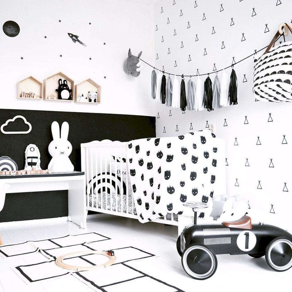 Warm and lovely kids bedroom decoration using a soft color combination showing a neutral scheme that looks beautiful and adorable Image 32