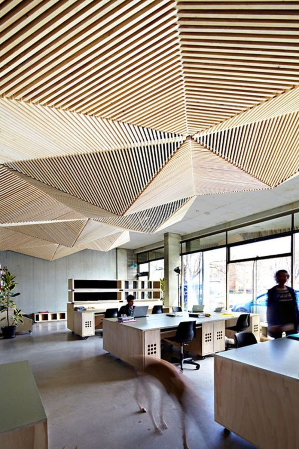 Amazing office interior ideas with unique and unconventional false ceiling designs Image 1