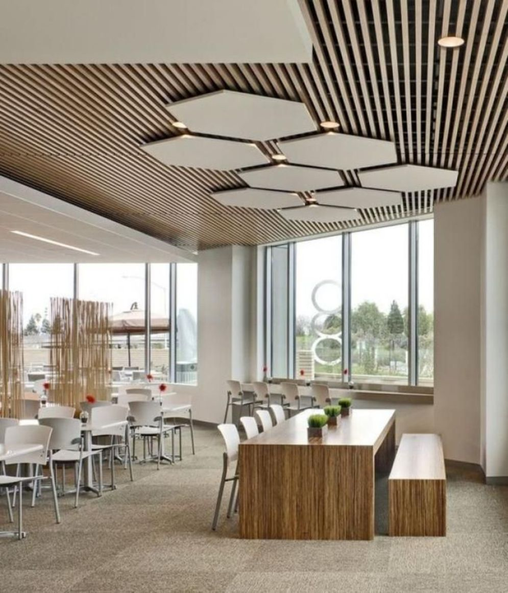 Amazing office interior ideas with unique and unconventional false ceiling designs Image 11