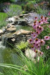 Amazing waterfall ideas giving the best look and panoramic schemes for your landscaping style Image 15