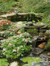 Amazing waterfall ideas giving the best look and panoramic schemes for your landscaping style Image 7