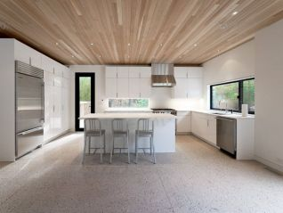 Artsy terrazzo flooring bringing back the classy vintage accent combined in modern simple interior style Image 22