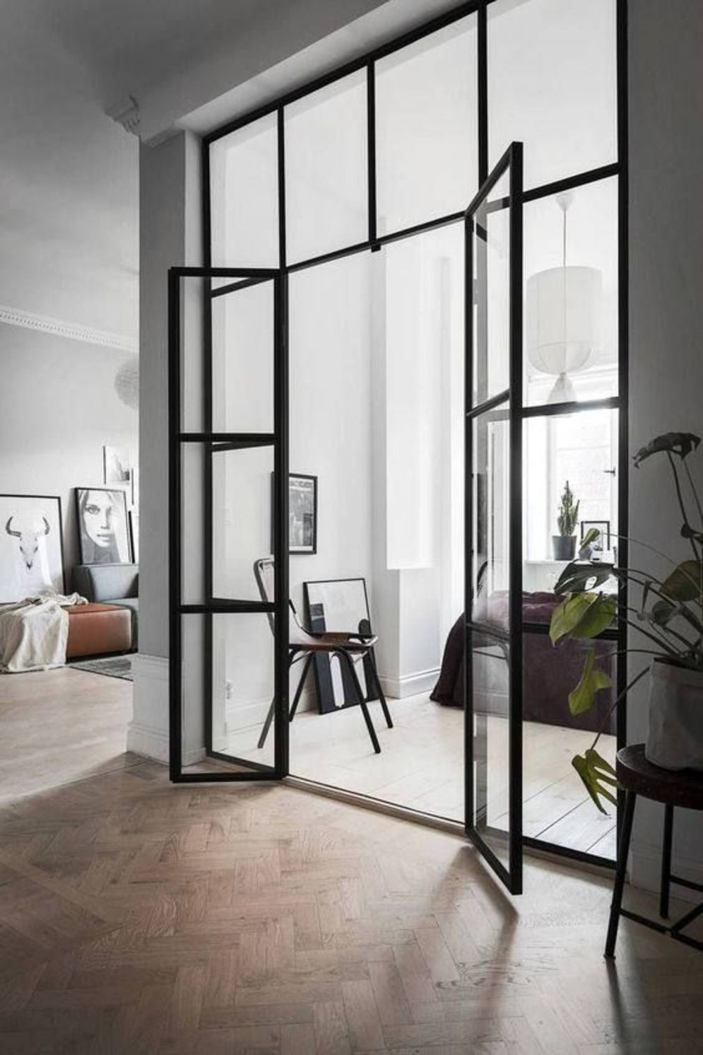 Bright home concepts with modern style of glass partition giving vast interior sense of space Image 10
