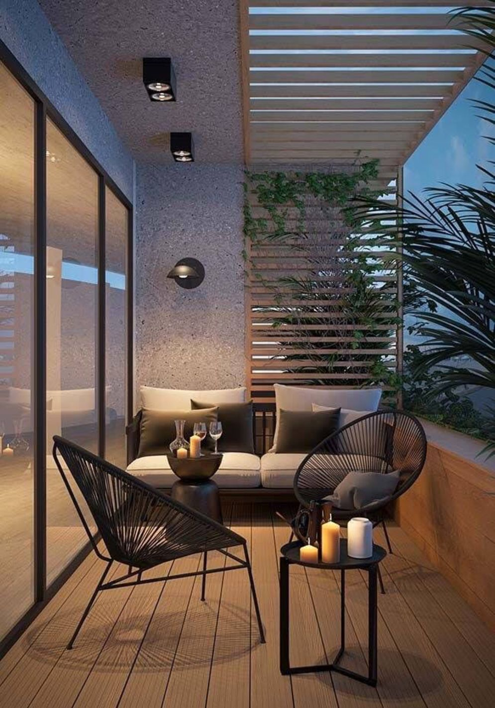 Brilliant apartment balcony ideas converted into cozy living space Image 2