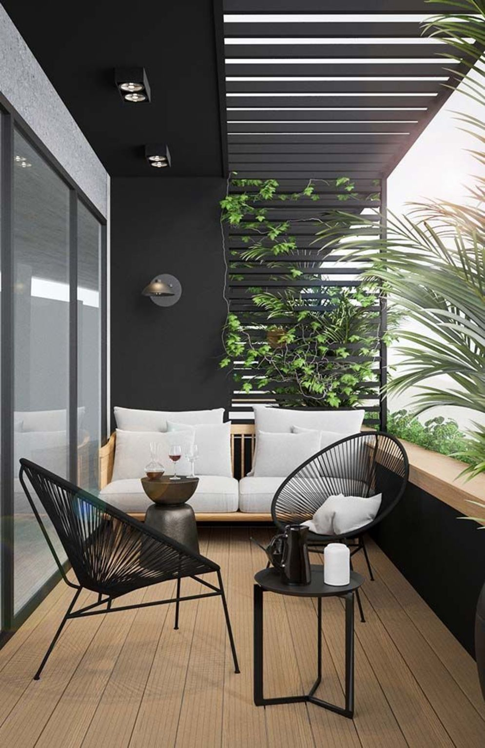 Brilliant apartment balcony ideas converted into cozy living space Image 4