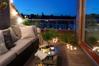 Clever apartment balcony conversion maximizing small space into functional living area Image 35