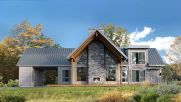 Countryside house with modern Farmhouse exterior design bringing up the traditional style in new classy look Image 10