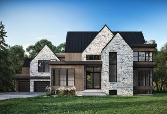 Countryside house with modern Farmhouse exterior design bringing up the traditional style in new classy look Image 12