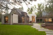Countryside house with modern Farmhouse exterior design bringing up the traditional style in new classy look Image 3