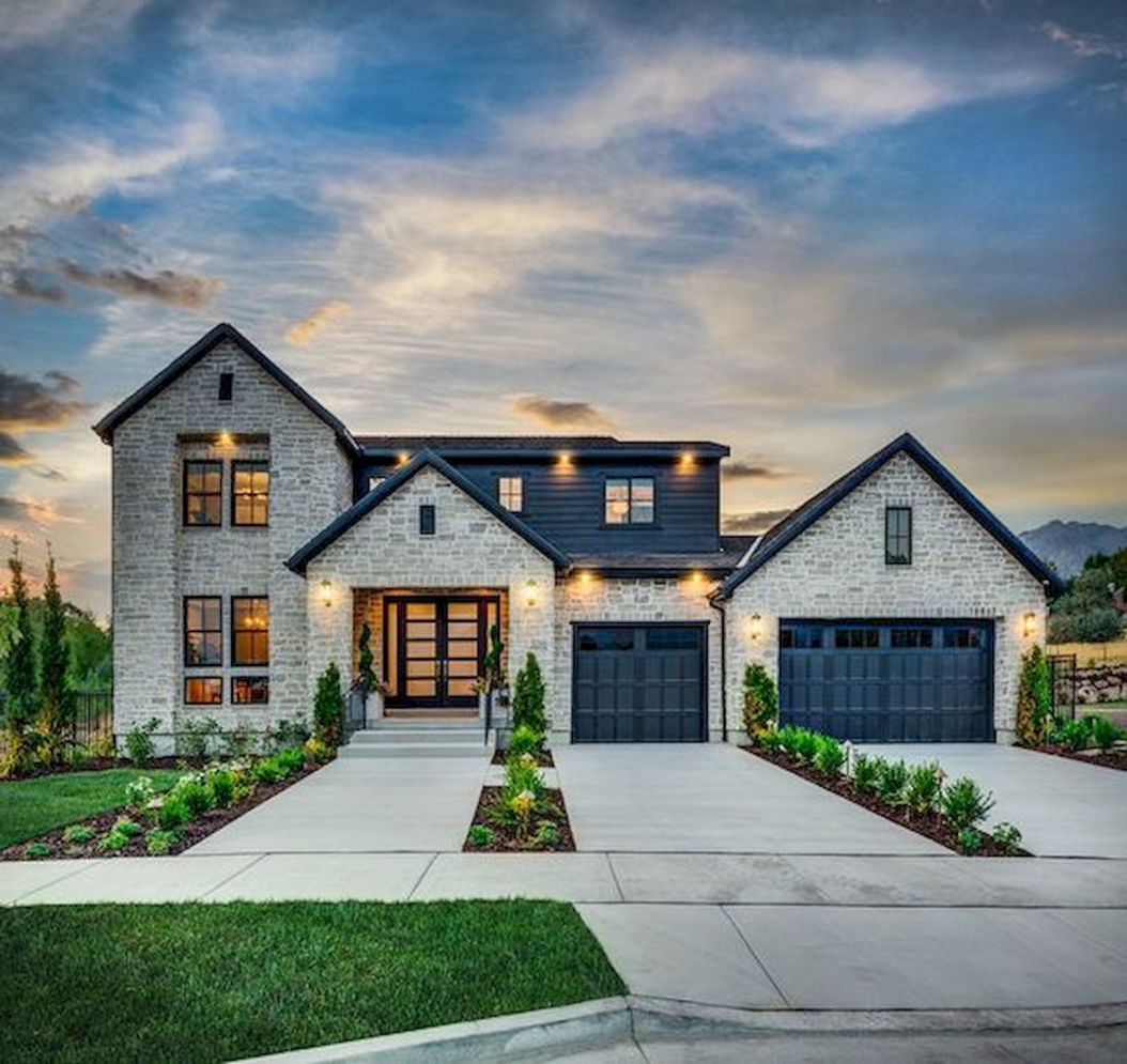 Countryside house with modern Farmhouse exterior design bringing up the traditional style in new classy look Image 5