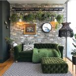 Expressive interior display in multilayering textures and colors showing artsy interior schemes with retro and vintage accents Image 15