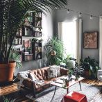 Expressive interior display in multilayering textures and colors showing artsy interior schemes with retro and vintage accents Image 5