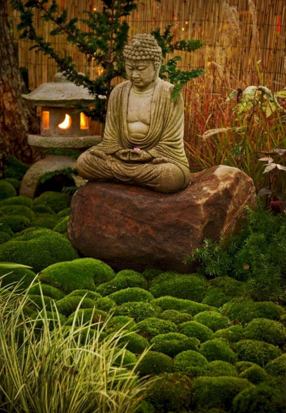 Green outdoor ideas with calming vibes from Zen garden style showing harmonious and balanced various natural elements Image 29