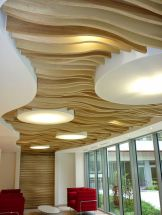 Modern office designs showing artistic false ceiling decoration Image 32