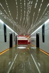 Modern office designs showing artistic false ceiling decoration Image 42