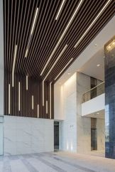 Modern office designs showing artistic false ceiling decoration Image 45