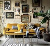 Multitoned interior design highlighting a series of eclectic styles and designs in a harmonious space display concept Image 22