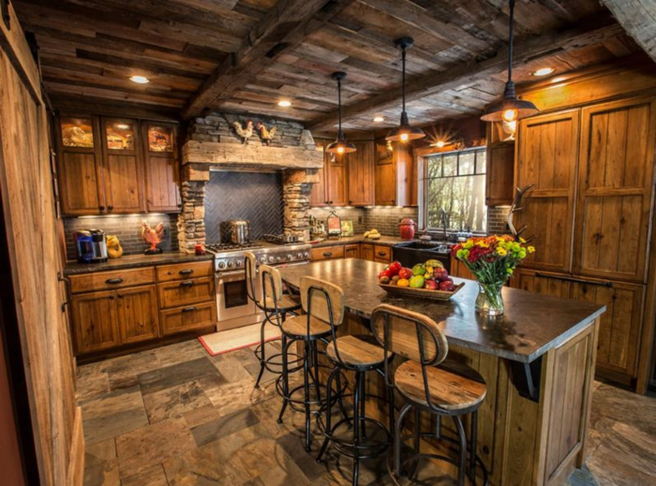 40 Kitchen Ideas Giving The Warm Cabin Designs In Amazing