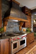 Warm and friendly cabin kitchen displaying rustic interior styles providing ideal space for a perfect retreat Image 30