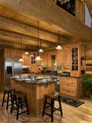 Warm and friendly cabin kitchen displaying rustic interior styles providing ideal space for a perfect retreat Image 32
