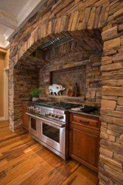 Warm and friendly cabin kitchen displaying rustic interior styles providing ideal space for a perfect retreat Image 35