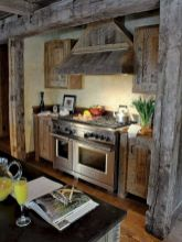Warm and friendly cabin kitchen displaying rustic interior styles providing ideal space for a perfect retreat Image 39