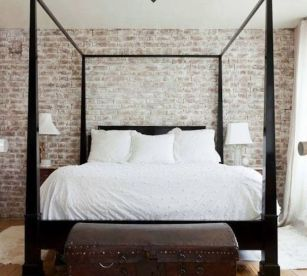 Wonderful interior statement brick wall improving interior display with modern rustic combination Image 21