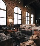 Wonderful interior statement brick wall improving interior display with modern rustic combination Image 24