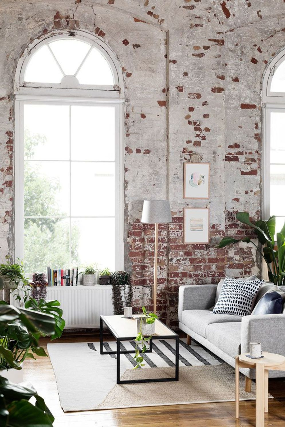 Wonderful interior statement brick wall improving interior display with modern rustic combination Image 25