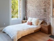 Wonderful interior statement brick wall improving interior display with modern rustic combination Image 34