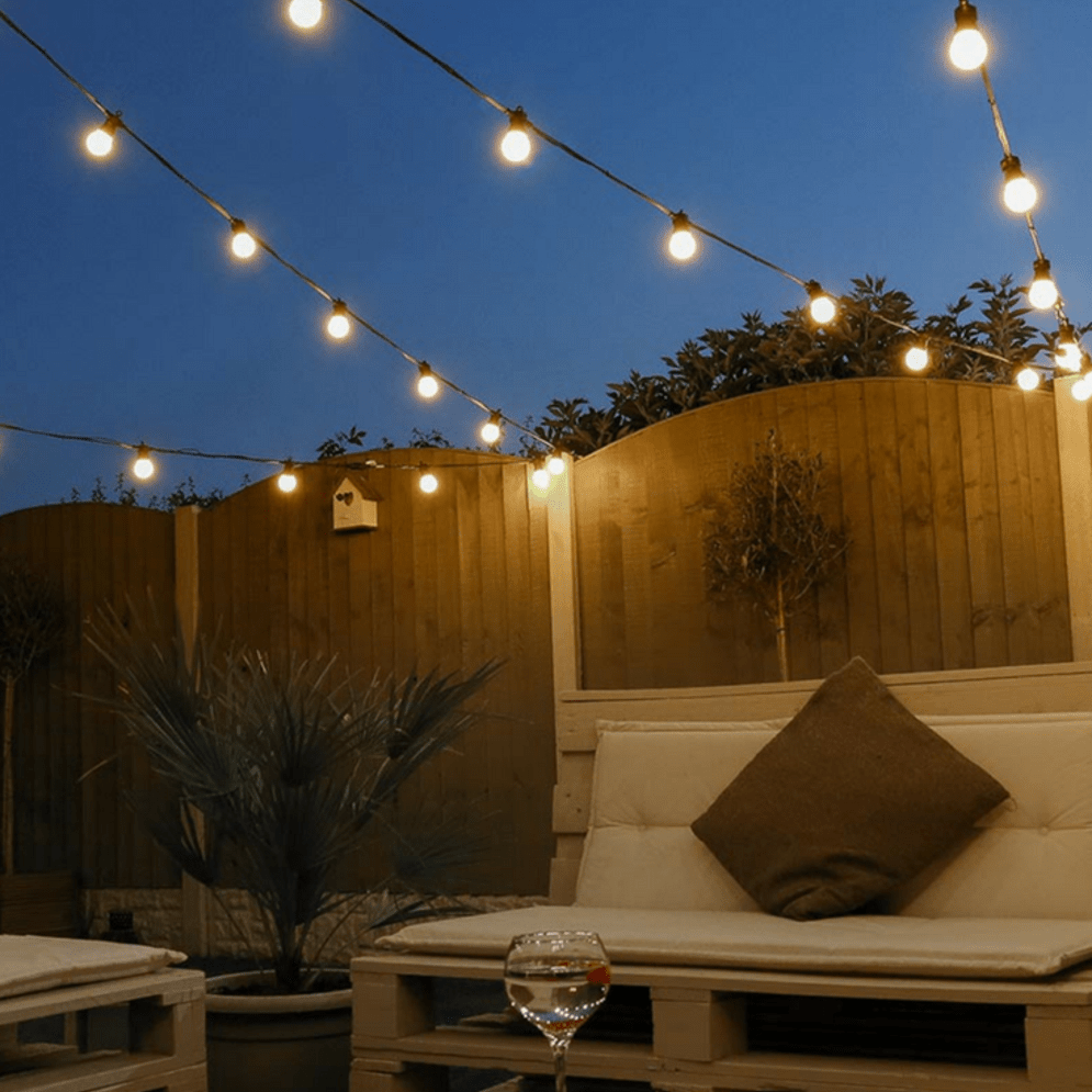 Amazing festoon lighting to enhance beautiful garden lighting ideas with fairy outdoor display Image 2
