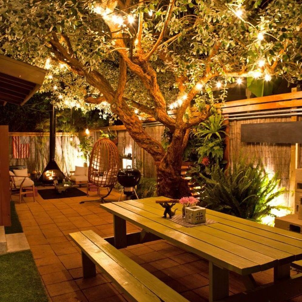 Amazing festoon lighting to enhance beautiful garden lighting ideas with fairy outdoor display Image 4