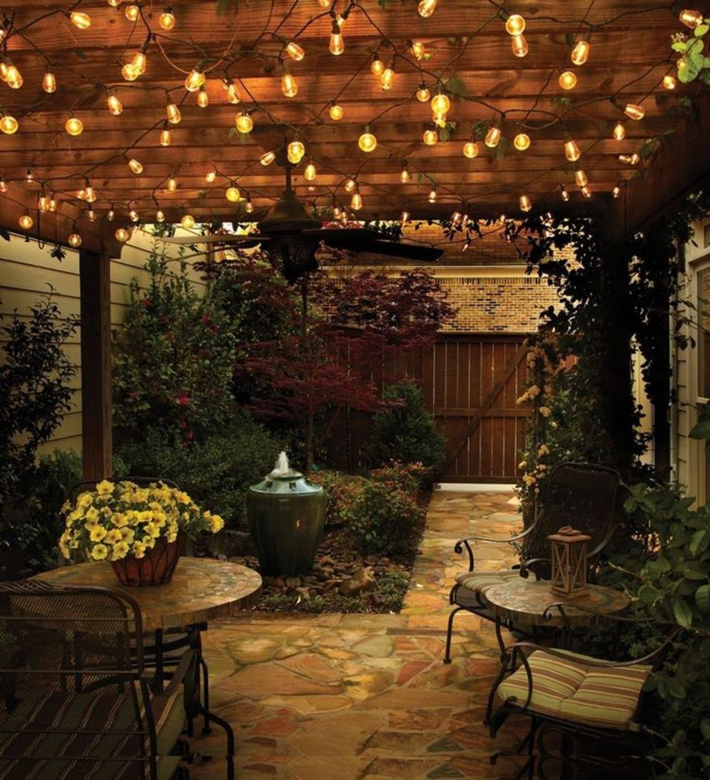 Amazing festoon lighting to enhance beautiful garden lighting ideas with fairy outdoor display Image 6