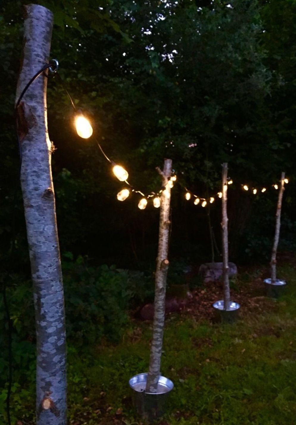 Amazing festoon lighting to enhance beautiful garden lighting ideas with fairy outdoor display Image 7