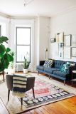 Artful interior style showcasing eclectic Bohemian display with ethnic rugs as decoration Image 17