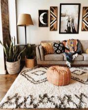 Beautiful Bohemian living style displaying artsy rug designs with exotic pattern Image 36