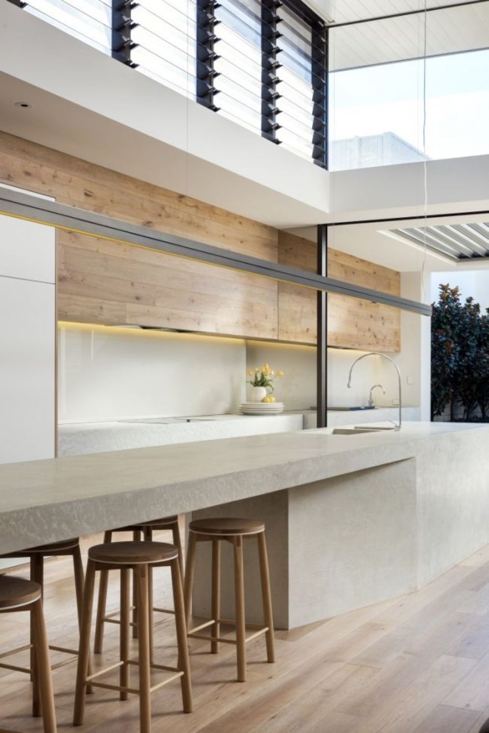 Classy kitchen styles in bold display maximizing concrete benchtop designs Image 12